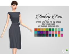 Audrey Bow Dress - Deetron Sims