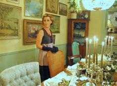 The Decorologist Does Downton Abbey - dinner party decor and menu