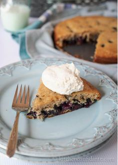 This blueberry buttermilk cake almost looks too good to eat! Get baking and turn your next get-together with your little stars into a Save the Children Playdate, raising money for children around the world. #Playdates