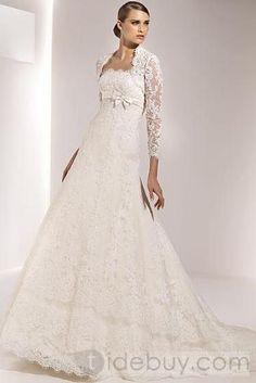 Gorgeous Empire Strapless Sleeveless Floor-Length Wedding Dresses