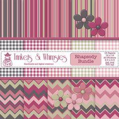 Rhapsody Digital Scrapbook Bundle  Instant by TrinketsAndWhimsies