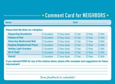 Would you like some professional feedback about your friendship performance? The new book Comment Cards for Life by Derek McCloud is here to help. [via neatorama] Previously: I Added Some Wine Recommendations to the Liquor Store by My House The Neighbor, Personal Relationship, Liquor Store, Holiday Lights, Funny Videos, Comedians, New Books, I Laughed, Layouts