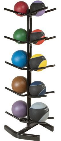 PB Extreme 10-Ball Rack can hold up to 10 medicine balls.