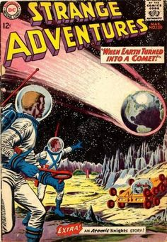 Cover for Strange Adventures (DC, 1950 series) Science Fiction, Pulp Fiction, Sci Fi Comics, Horror Comics, Dc Comic Books, Comic Book Covers, Comic Art, Comic Poster, Comic Book Tattoo