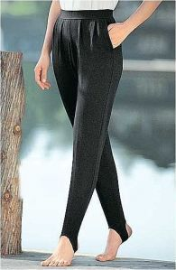 Stirrup pants. I loved wearing these with boots.
