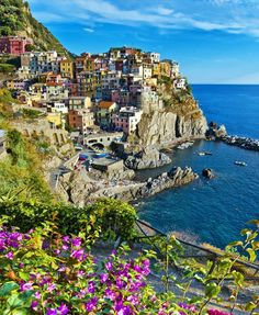 One of the five villages of Cinque Terre on the Italian Riviera, Manarola is a bright little town known for its sweet Sciacchetrà wine, medieval relics and the rugged coastline. | 10 Secret European Little Towns You Must Visit