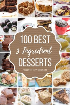 Satisfy your sweet tooth with these easy 3 ingredient desserts. There are desserts with only a few ingredients for cookies, pies, cakes, brownies & Fudge Recipes, Healthy Dessert Recipes, Baking Recipes, Delicious Desserts, Desserts With Few Ingredients, Cookies Ingredients, 3 Ingredients, Mini Desserts, Easy Desserts