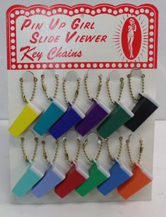 Pin Up Girl Slide Viewer Key Chains ~ As Seen On TV~
