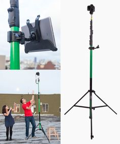 Photo Santa on your roof or video over the heads of ALL the other parents at the Christmas pageant with the Megaview Tripod. ($1300)