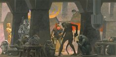 Check Out This Original 'Star Wars' Concept Art by Ralph McQuarrie: Pictured are a slew of original images from American conceptual designer and illustrator Ralph Ralph Mcquarrie, Star Wars Concept Art, Star Wars Art, Star Trek, Geeks, Science Fiction, Star Wars Painting, Darth Vader, Chewbacca