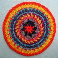 Crochet Mandala Wheel made by Michelle, Co Cork, Ireland, for yarndale.co.uk