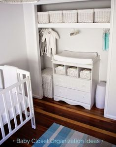 Baby Closet Organization Ideas Love The Changing Table In Nursery Small Rooms