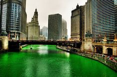 I'm going to Chicago to see the river turn green on St. Patrick's Day!!!!