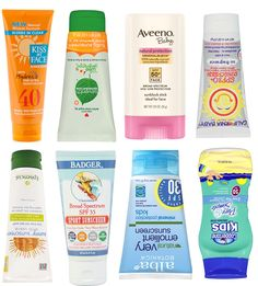 Best sunscreens for baby and kids according to the Environmental Working Group #sunscreen