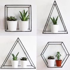 Trendy home dco bedroom plants ideas House Plants Decor, Plant Decor, Bedroom Plants, Bedroom Decor, Cute Room Decor, Aesthetic Rooms, Geometric Wall, Geometric Shelves, Trendy Home