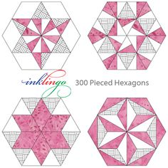 All About Inklingo » Blog Archive » Portable Pink Pieced Hexagons – Part 1