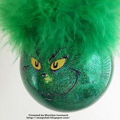 ~ Marilyn's Crafts ~: Grinch Ornament