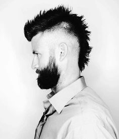 73 best short hairs images haircuts male haircuts men s haircuts Modern Mullet Boy faux hawk fade haircut for men 40 spiky modern styles