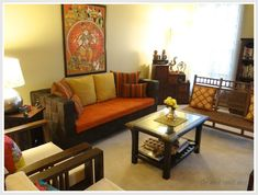 How to decor your home in traditional Indian way? What are the features of Classical Indian themed Interior design & Ethnic Indian style Interior Decoration Indian Home Interior, Indian Interiors, Home Interior Design, Interior Ideas, Indian Living Rooms, My Living Room, Living Room Decor, Ethnic Home Decor, Indian Home Decor
