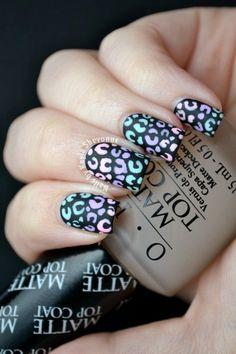 Nails by Kayla Shevonne: Matte Gradient Leopard Nails