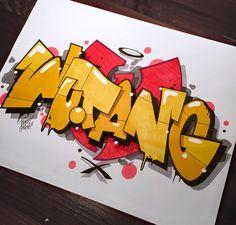 Wutang Clan – Graffiti World Graffiti Piece, Graffiti Tattoo, Graffiti Wall Art, Graffiti Alphabet, Street Art Graffiti, Graffiti Lettering Fonts, Graffiti Writing, Graffiti Tagging, Graffiti Designs