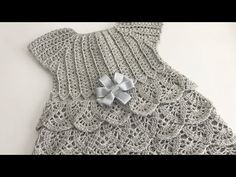 Vestidinho Crochê Karina - YouTube Crochet Skirt Pattern, Crochet Box, Baby Girl Crochet, Crochet Baby Booties, Crochet Gifts, Crochet For Kids, Knit Crochet, Crochet Patterns, Skirts For Kids