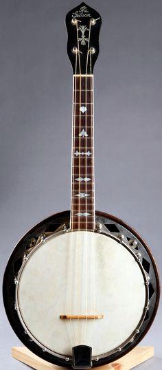 GIbson UB 4 Banjo Ukulele #LardysUkuleleOfTheDay ~ https://www.pinterest.com/lardyfatboy/lardys-ukulele-of-the-day/ ~