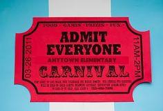 Carnival Ticket Invitation Template Free