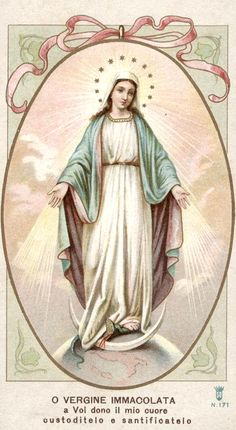 All about Mary. O Vergine Immacolata