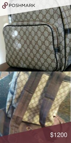 fd4277c3cdd5 Gucci GG Beige Brown Backpack Brand New with dust cover. Gucci Bags  Backpacks Brown Backpacks