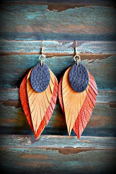 Handmade Leather Earrings from Thailand #145 · Purchase Effect · Online Store Powered by Storenvy