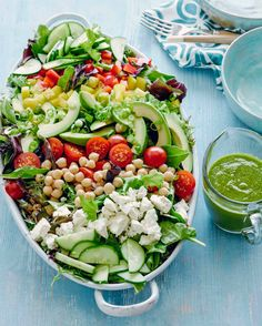 Loaded Power Salad by What's Gaby Cooking, featured at chasingdelicious.com. Get more delicious at @chasedelicious.