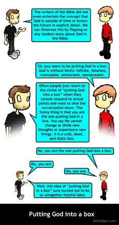 Putting God in a Box.  Religion meme.