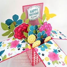 Birthday Pop-Up Card, Card in a Box, Stampin' Up!