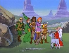 dungens and dragons cartoon | Hank, Presto, Diana, Sheila, Bobby, Uni and Dungeon Master