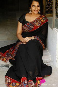 Cotton Saree Designs, Pattu Saree Blouse Designs, Kurta Designs, Trendy Sarees, Stylish Sarees, Fancy Sarees, Kalamkari Dresses, Kalamkari Saree, Georgette Sarees