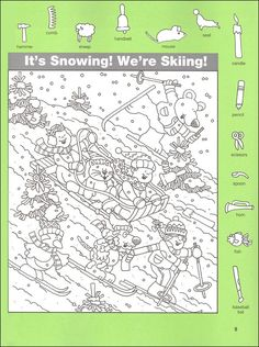 - Rainbow Resource Hidden Pictures Classics: Fast Tracks Details - Rainbow Resource Center, Inc. Colouring Pages, Coloring Books, Hidden Pictures Printables, Find The Hidden Objects, Hidden Picture Puzzles, Rainbow Resource, Maila, Snow Fun, Theme Noel