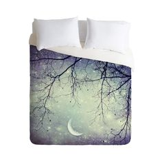 Sleeping Under the Stars Duvet Cover | dotandbo.com This would be so pretty at Halloween time, anytime really!