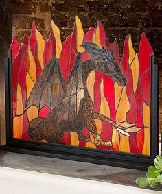 Dragon Fire Screen #zulilyfinds