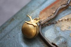 Ball and Chain Sparrow Necklace by ChristineDomanic on Etsy, $26.00