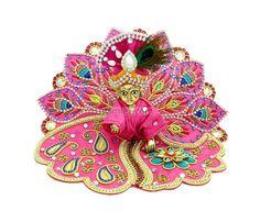 Pink Stone work Laddu Gopal Poshak, amfez.com