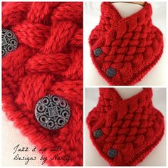 Harvest Red Hand knit Basket Weave Neck warmer Scarf Caron Simply Soft | jazzitupwithdesignsbynancy - Knitting on ArtFir