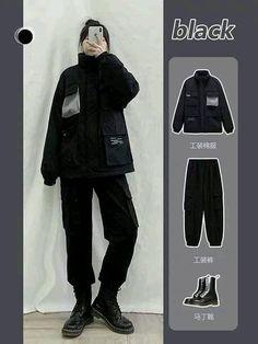 Kpop Fashion Outfits, Ulzzang Fashion, Korean Street Fashion, Asian Fashion, Cool Outfits, Casual Outfits, Korean Casual, Fashion Catalogue, Street Style Looks