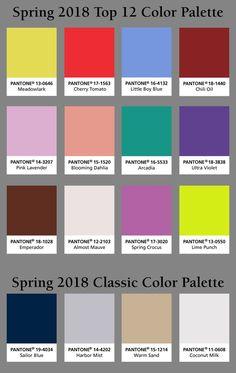 Pantone Spring 2018 color palette! Which #pantone color is your favorite?-Homemakers Furniture (scheduled via http://www.tailwindapp.com?utm_source=pinterest&utm_medium=twpin)
