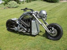 ................................................................  cool skeleton chopper. this bikes sick!