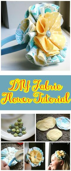 50 Easy Fabric Flowers Tutorial - Make Your Own Fabric Flowers - DIY & Crafts