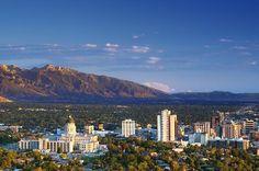 Pretty Salt Lake City.