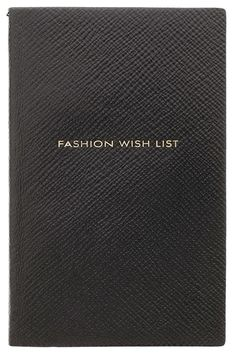 Exclusive Fashion Wish List Notebook by: SMYTHSON