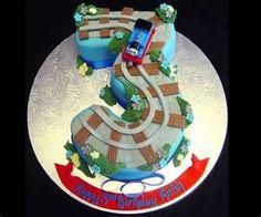Thomas the Tank Engine number 3 birthday cake