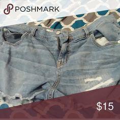 Shorts Boyfriend blue jean shorts excellent condition. Shorts Jean Shorts
